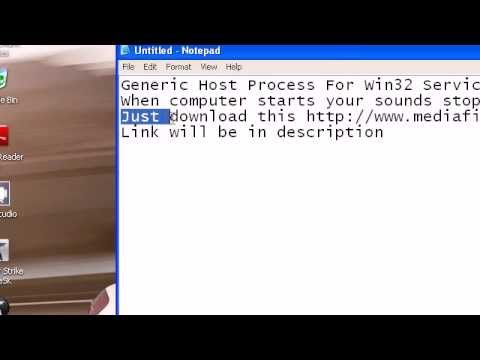 Generic Host Process For Win32 Services [ Fixed ] 100% Working
