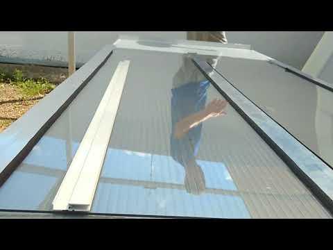 Como instalar uma cobertura de Policarbonato Compacto 3 mm  com PERFIL H aluminio - Polysolution