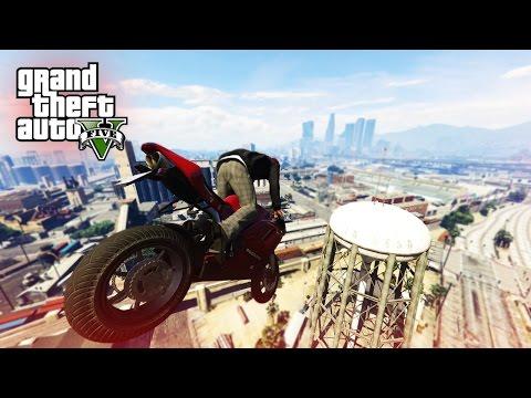 SICK MOTORBIKE STUNT! - (GTA V Stunts & Fails)
