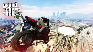 SICK MOTORBIKE STUNT! - (GTA V Stunts & Fails)
