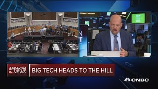 Google is more a utilitarian product than a content product, says Jim Cramer