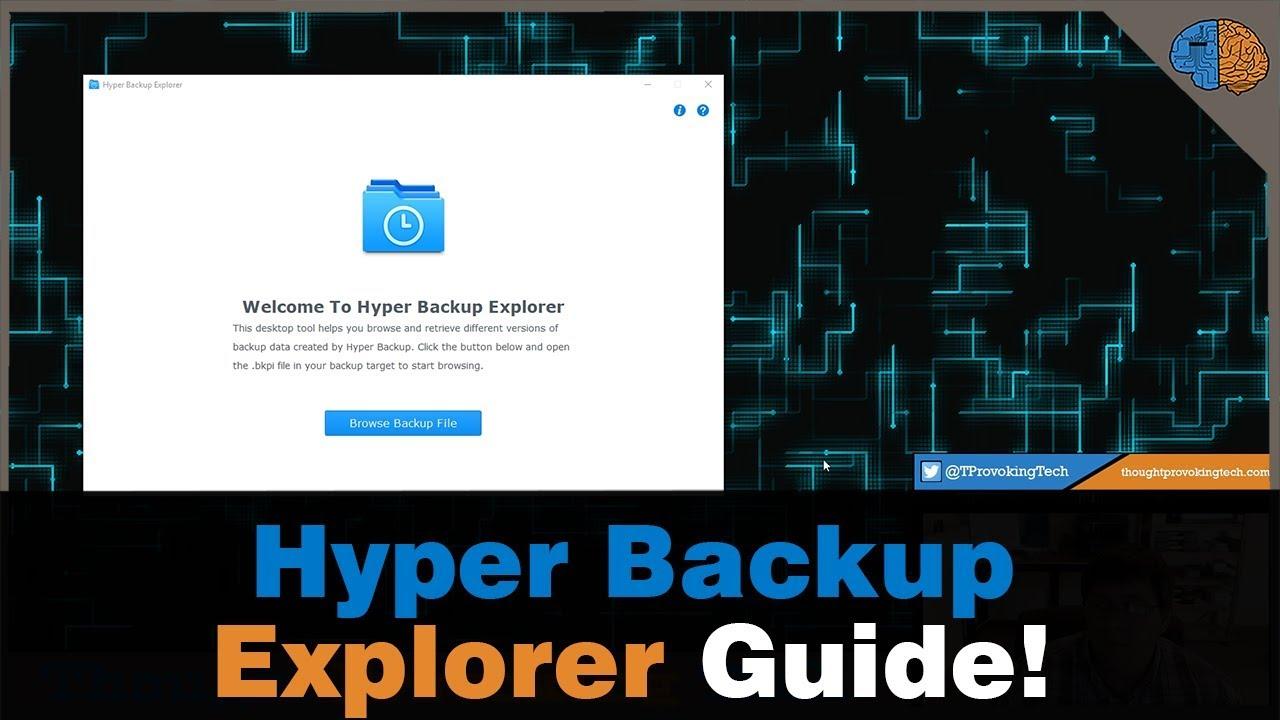 Synology Hyper Backup Explorer Guide