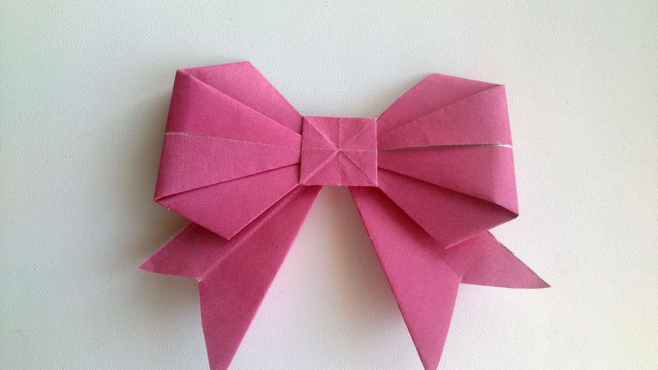 How To Make An Origami Bow Diy Crafts Tutorial Guidecentral
