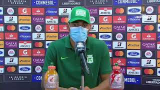 Jefferson Duque, después de la remontada 4 - 1 sobre  Libertad de Paraguay...