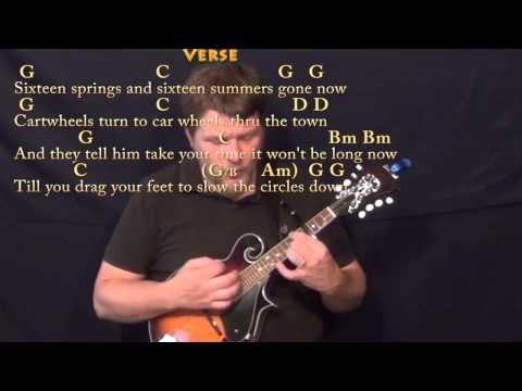 Circle game joni mitchell mandolin cover lesson with chords lyrics