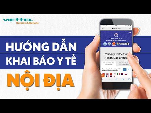 Hướng dẫn khai báo y tế nội địa - Vietnam Health Declaration