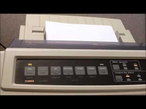 okidata printer setup youtube rh youtube com oki microline 3320 service manual oki microline 3320 service manual