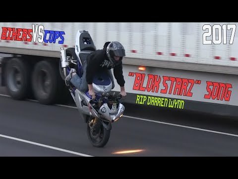 Amazing Motorcycle STUNTS On Streets BIKERS VS COPS 👮 BikeLife 2017 Blox Starz Song RIP Darren Wynn