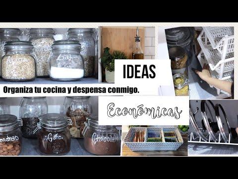 IDEAS para organizar tu cocina sin gastar mucho dinero.