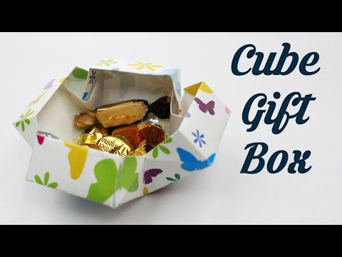 How to make Cube Gift Box by GIovanni Maltagliati, Easy Basic Simple Origami For Kids, DIY Crafts