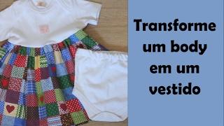 Transforme um body de bebê em um vestido