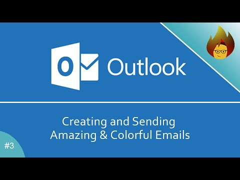 Creating And Sending Amazing & Colorful Emails | MS Outlook 365