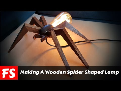 Making A Wooden Bug Shaped Lamp (FS Woodworking)
