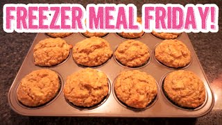 Freezer Meal Friday | Healthy Banana Oat Breakfast Muffins Recipe