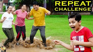 REPEAT CHALLENGE | Comedy Family Challenge | Funny Pranks | Aayu and Pihu Show