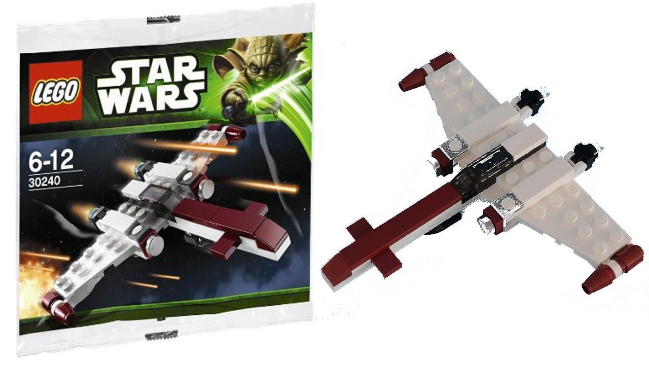 Lego Star Wars 30240 Z 95 Headhunter Poly Bag Stop Motion Speed