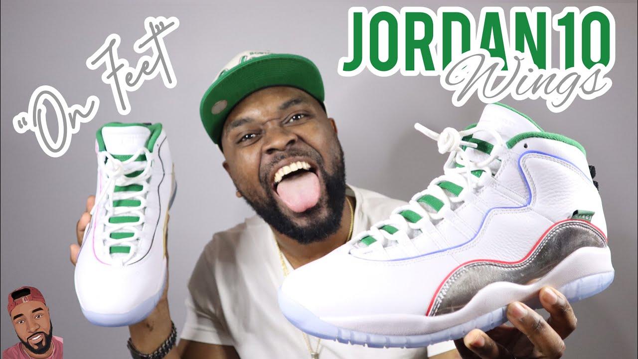 "Air Jordan 10 ""WINGS"" On Feet"