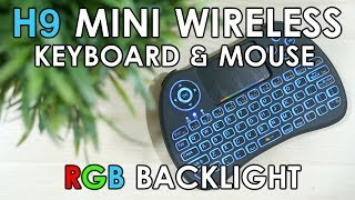 H9 Mini Wireless Keyboard Mouse with RGB Backlight (PS4/HTPC)
