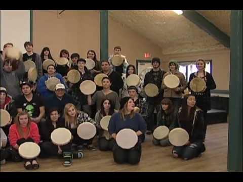 """Drum Connection"" Aboriginal Grad 2013"