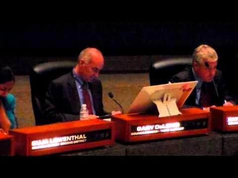 DeLong, City Council General Meeting, Long Beach, 10/9/12 (Part 1)