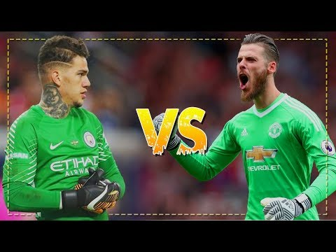 David De Gea vs Ederson Moraes 2017/18 - Best Saves  - Manchester United vs Manchester City | HD