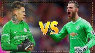 David De Gea vs Ederson Moraes 2017/18 - Best Saves  - Manchester United vs Manchester City | HD