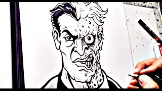 two face drawing lesson