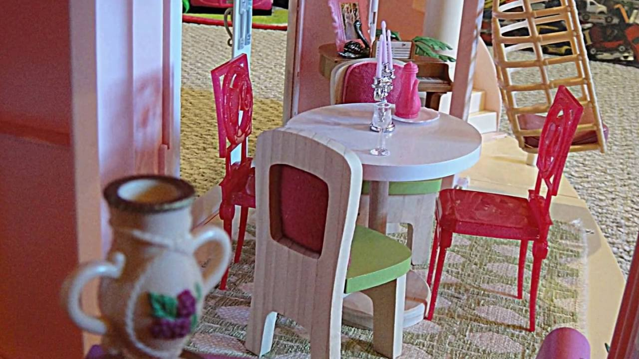 wooden barbie doll furniture. Barbie Three Story Dream House Dollhouse Tour Customized W/ Kidkraft Wooden Doll Furniture C