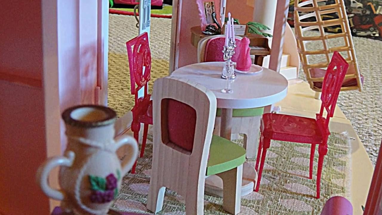 Barbie Dolls Hello Dreamhouse Dollhouse W Kitchen: Barbie Three Story Dream House Dollhouse Tour Customized W