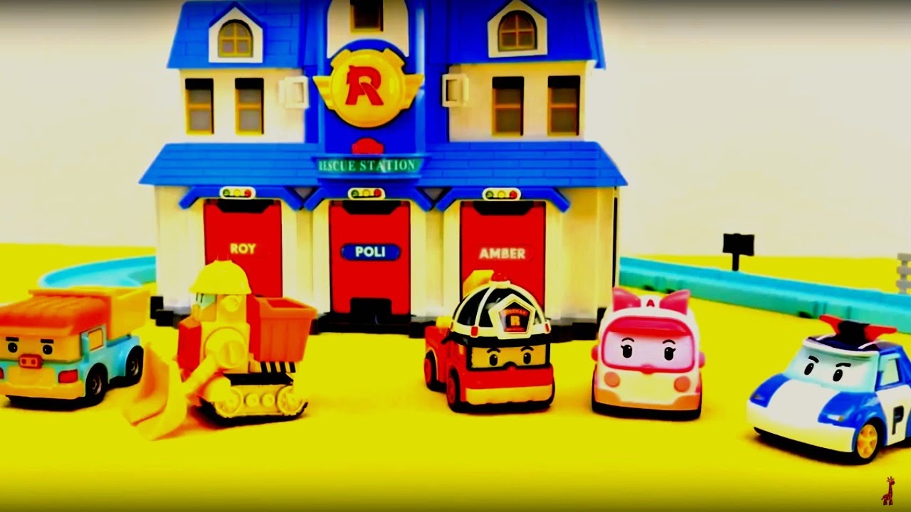 Robocar poli construction d 39 une nouvelle station de secourisme youtube - Poli robocar francais ...