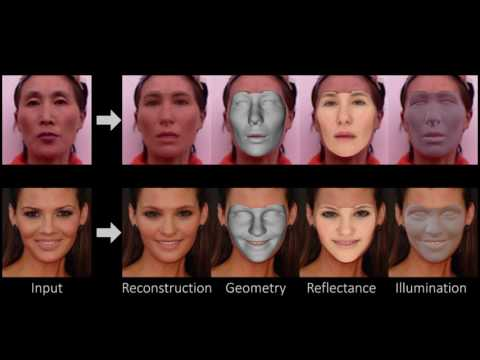 Model-based Deep Convolutional Face Autoencoder for Unsupervised Monocular Reconstruction, ICCV 2017