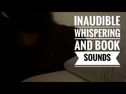 ASMR Inaudible Whispering with Mouth Sounds + Book Sounds for Relaxation and Sle