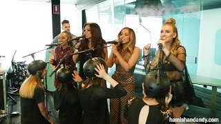 Little Mix 'Black Magic' With Human Microphone Stands