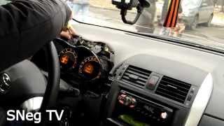 Toyota Corolla 2011 (E150) Самостоятельно убираем скрип приборной доски