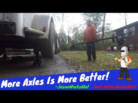 Replacing One Of The Dexter Torflex Axles On WifeyWorksAlot's Horse Trailer!