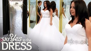4'11 Bride Wants a Wedding Dress That Will Make Her Feel Tall! | Say Yes To The Dress Canada