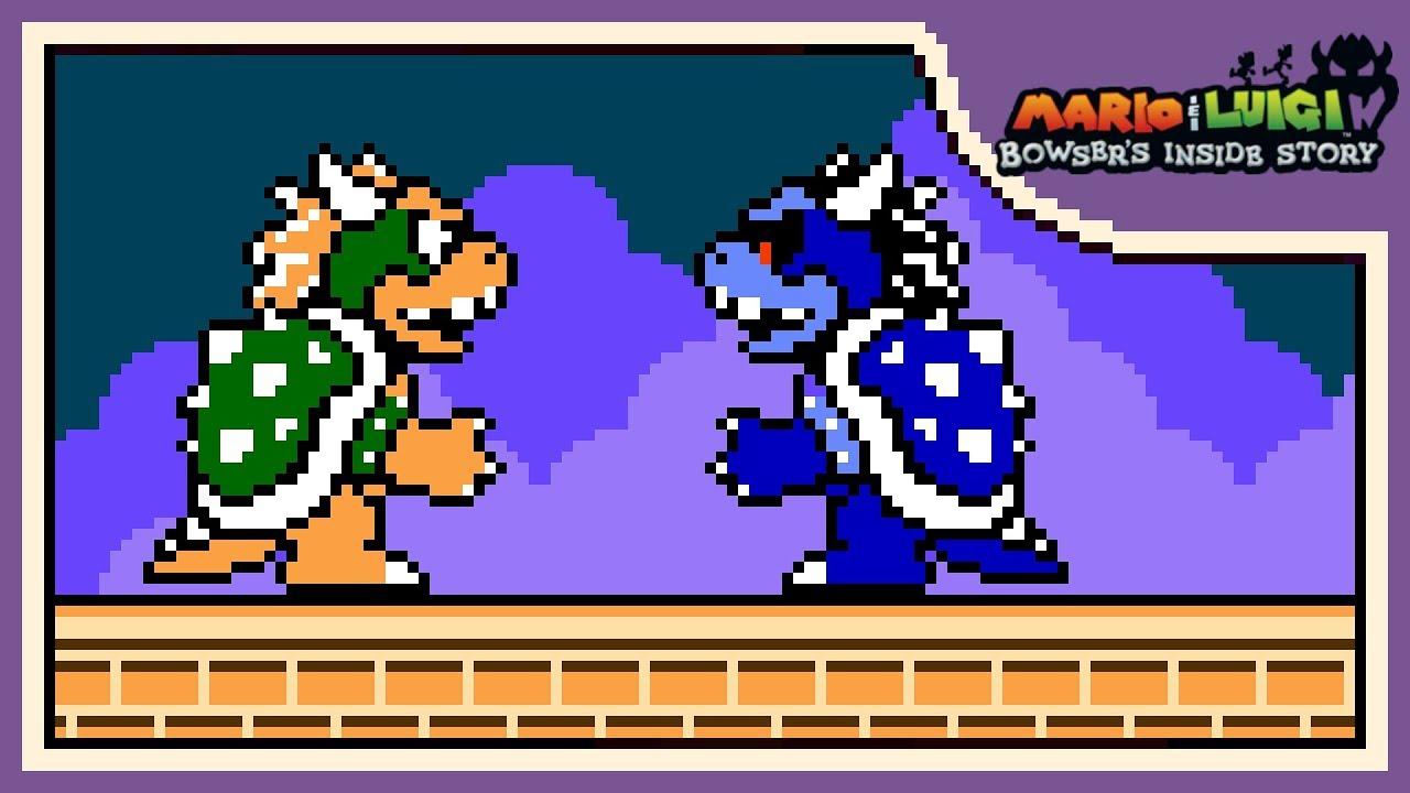 The Grand Finale 8 Bit Remix Mario Luigi Bowser S Inside