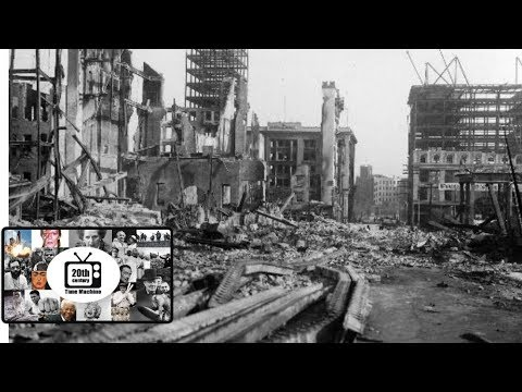 San Francisco Earthquake and Fire 1906, Edison Newsreel Original Silent Footage (Poor Quality)