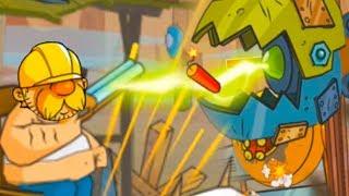 БОСС ЭКСКАВАТОР в Swamp Attack #15 Болотная Атака с Кидом. Финальная Концовка игры на крутилкины