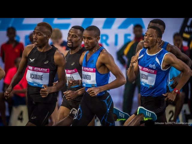 Ncamane, Van Rensburg and Managoi battles it out for the Men's 800m Title