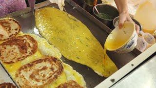 Omelet Scallion Pancake  - Taiwanese Street Food