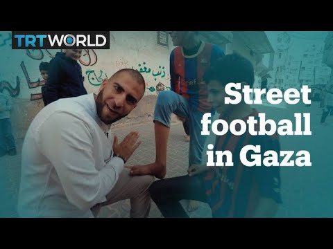 Street football in Gaza