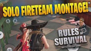 34 Kill Solo vs Fireteam Montage! (1v5 Rules Of Survival Montage) #4