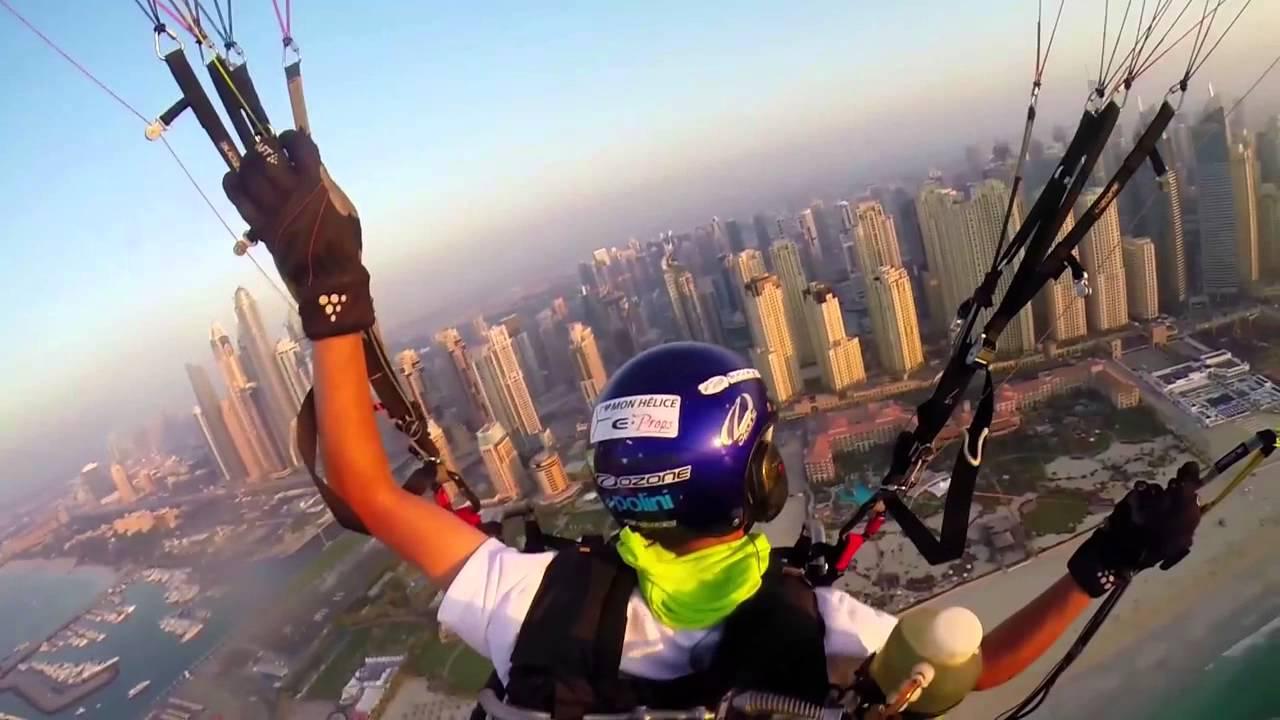 Скай рейсинг в Дубае. Полеты на параплане. Видео в HD