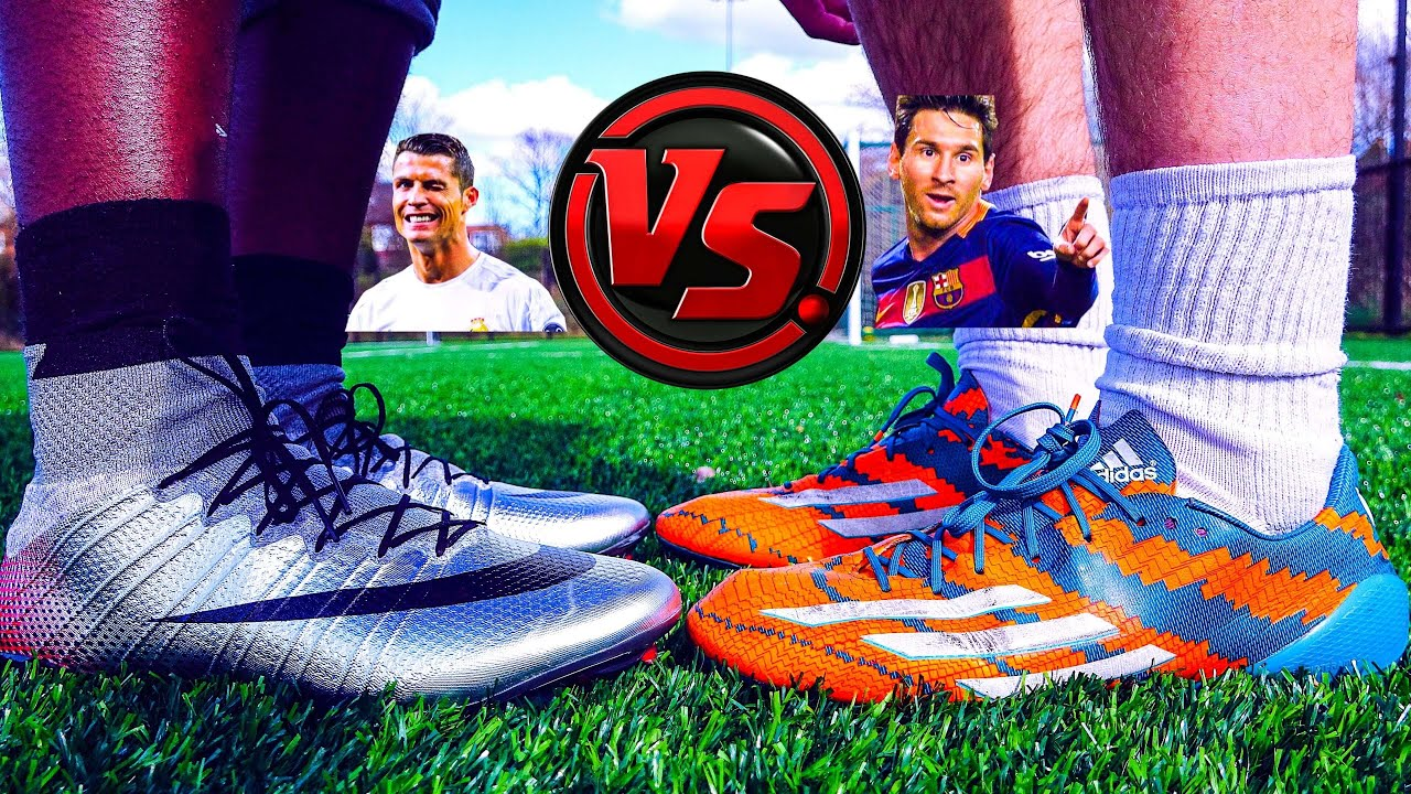 Ronaldo VS Messi - Boot Battle: FAKE Nike Superfly CR7 vs adidas Messi15  Test Comparison - YouTube