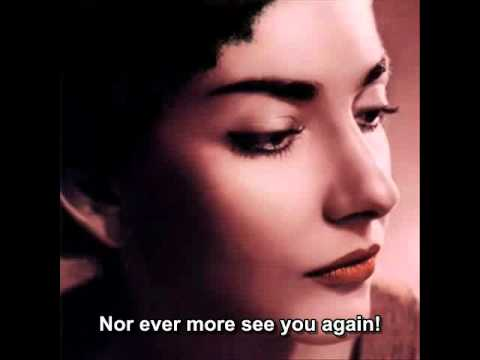"""Maria Callas - Ebben! Ne Andro Lontana - Fron """"La Wally"""" (English Subtitle)"""