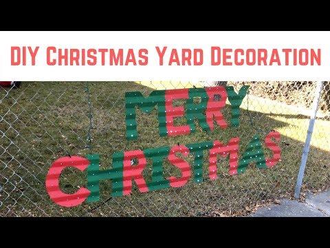 DIY Christmas Yard Decoration