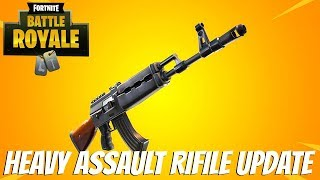 "Fortnite:Battle Royale ""Heavy Assault Rifle"" Update - Fortnite Ak47 gameplay Update"