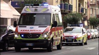 Ambulanza 551 Ponente Emergenza + Automedica