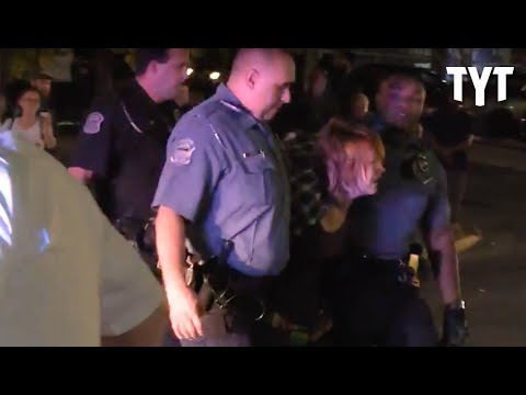 Ferguson Police Rough Up Protesters During Arrest
